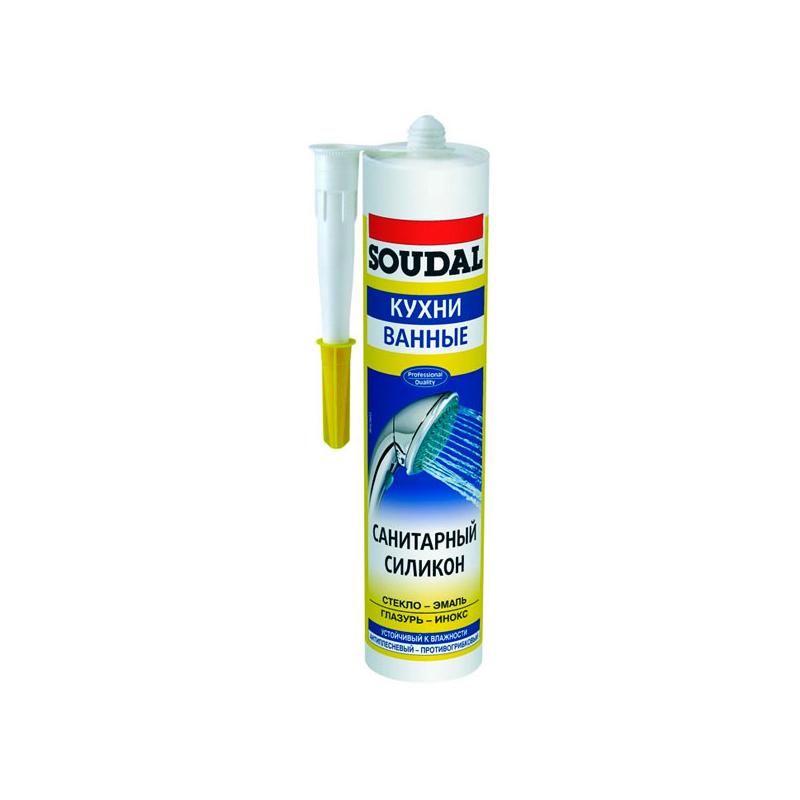 Соудал санитарный силикон белый 60гр (в блистерах)