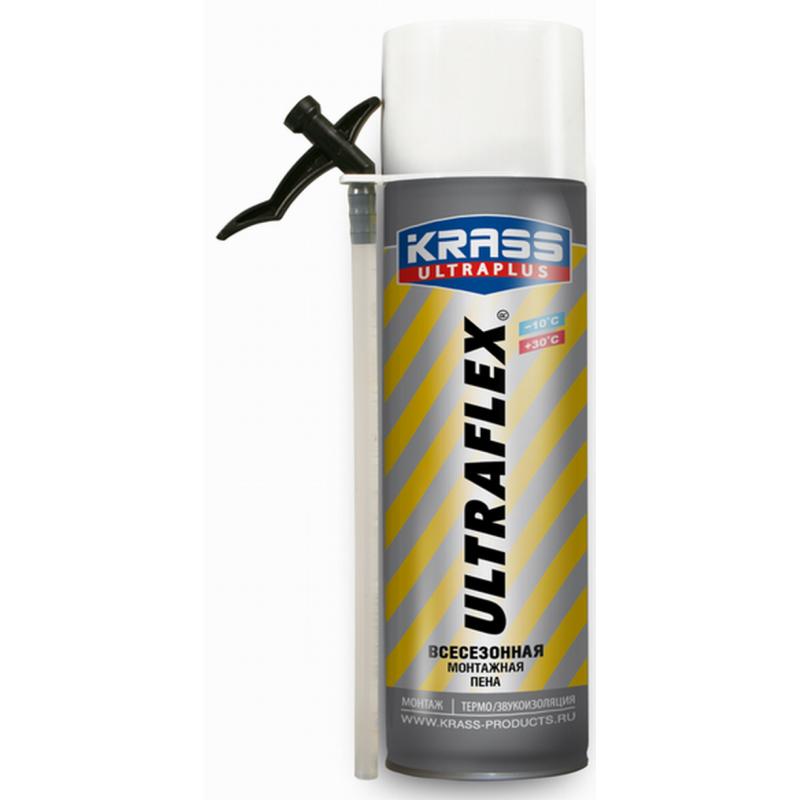 Пена монтажная KRASS ULTRAFLEX Всесезонная 0,5л