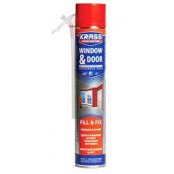 Пена монтажная KRASS Home Edition для окон и дверей 0,75л
