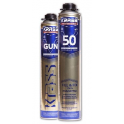 Пена монтажная KRASS Professional V50 пистолетная 0,75л
