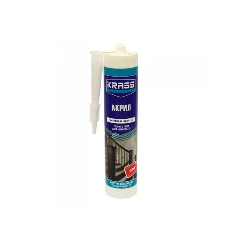 Герметик KRASS акриловый для интерьерных работ Белый 300мл