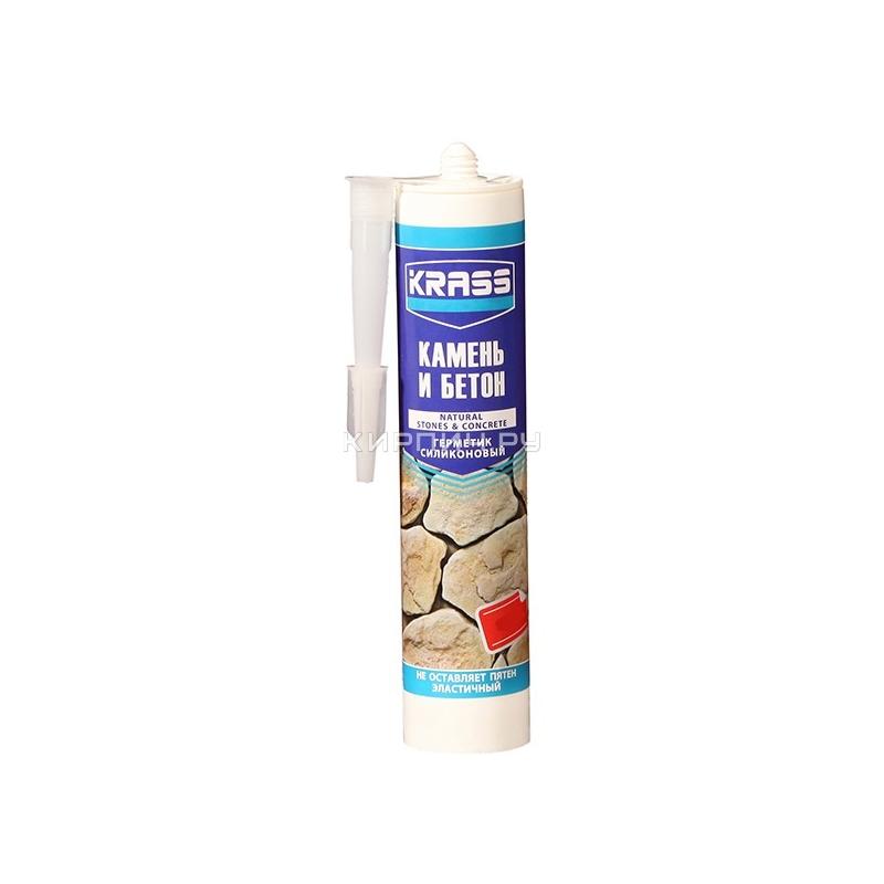 Герметик KRASS для бетона и натурального камня Серый 300мл