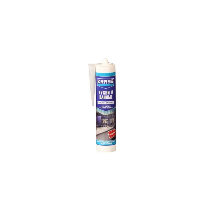 Герметик KRASS для кухни и ванны Белый 300мл