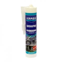 Герметик силиконизированный KRASS (Силакрил) Белый 300мл