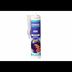 Герметик силиконовый KRASS для аквариумов (Аква) Черный 300мл