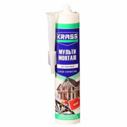 Клей-герметик KRASS MS-полимер многоцелевой (Мульти монтажная)