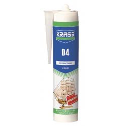 Клей KRASS полиуретановый D4 Бесцветный 300мл