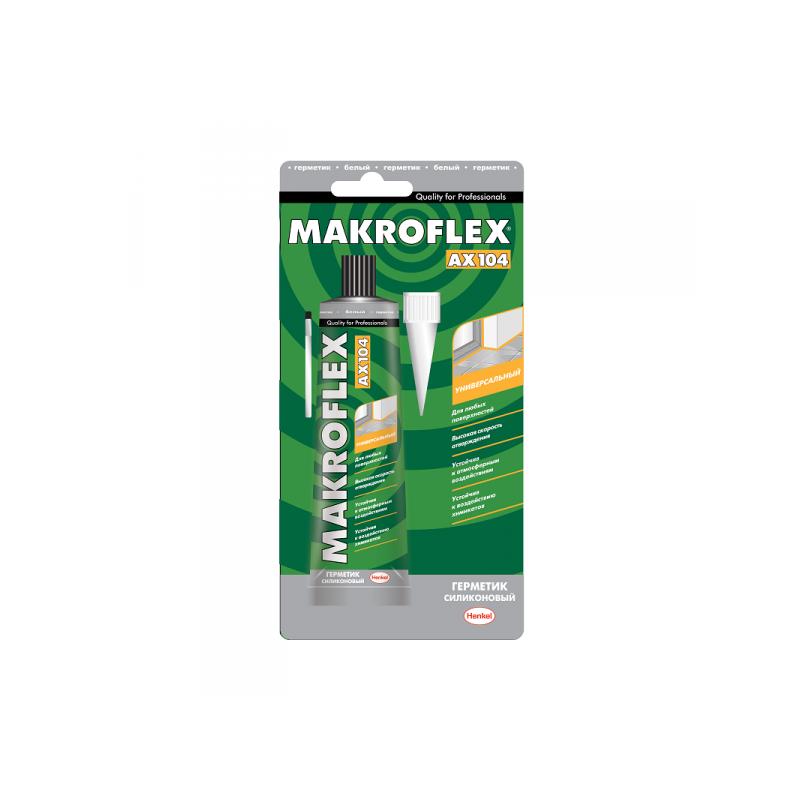 МАКРОФЛЕКС AX104 герметик силиконовый универсальный белый (85мл)