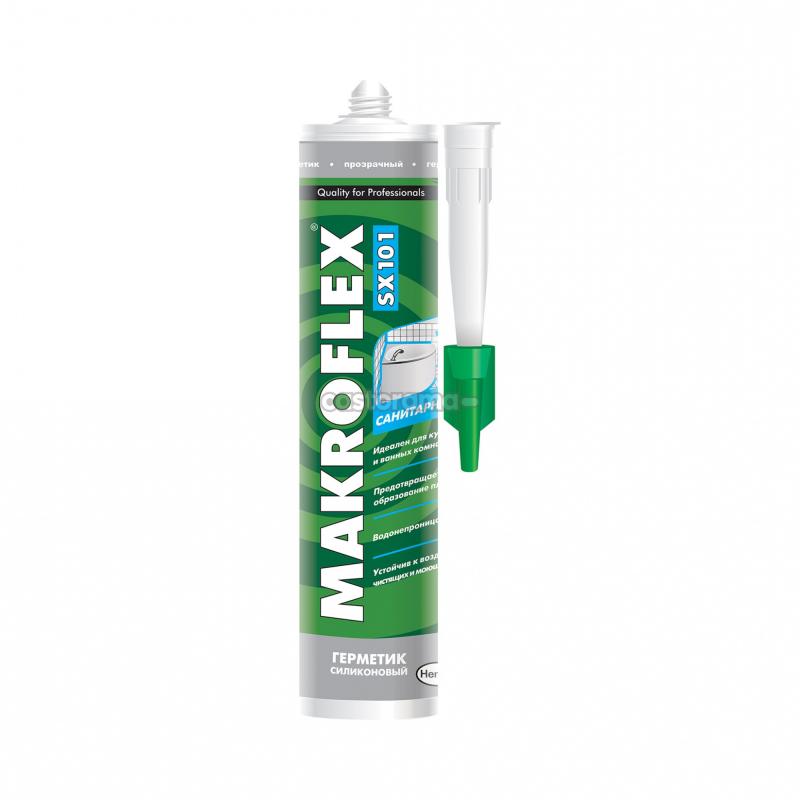 МАКРОФЛЕКС SX101 герметик силиконовый санитарный белый (0,29л)
